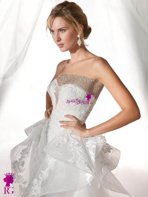 لباس عروس دکلته 2020