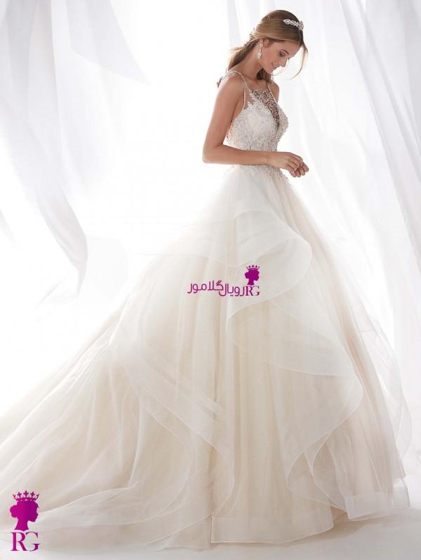 لباس عروس پرنسسی دکلته 2020