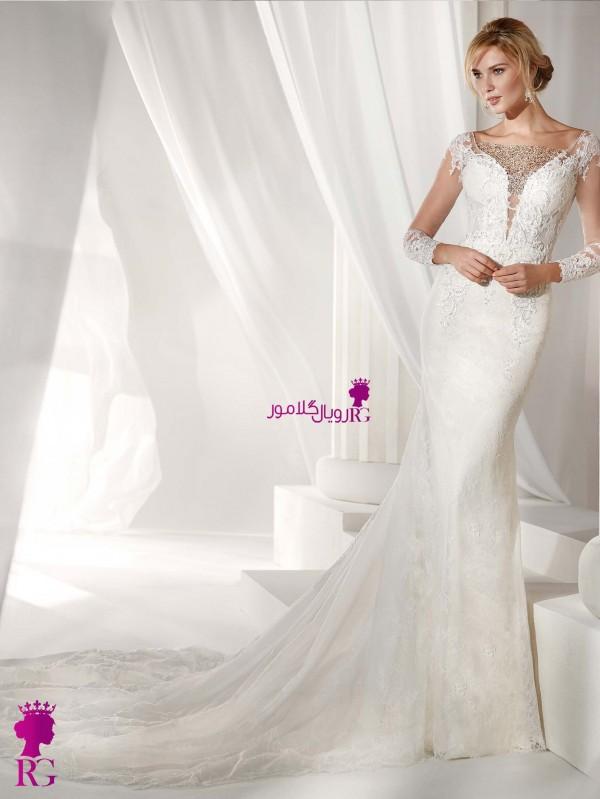 لباس عروس بلند زنانه شیک