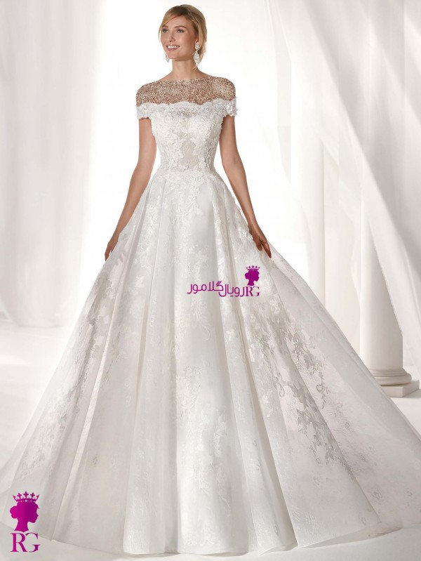 لباس عروس پفدار 2020 لباس عروس دکلته