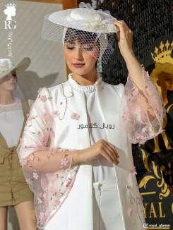 مانتو عروس رنگی مدل پرنیا
