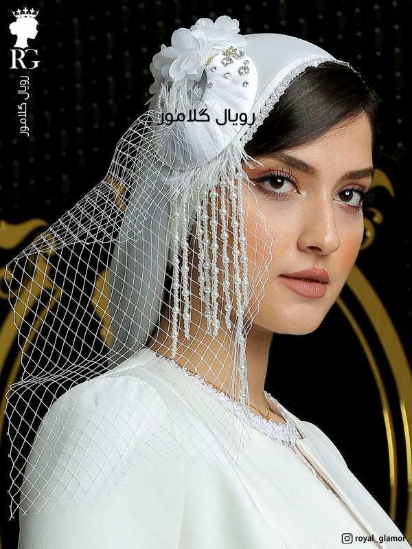 توربان حجاب عروس