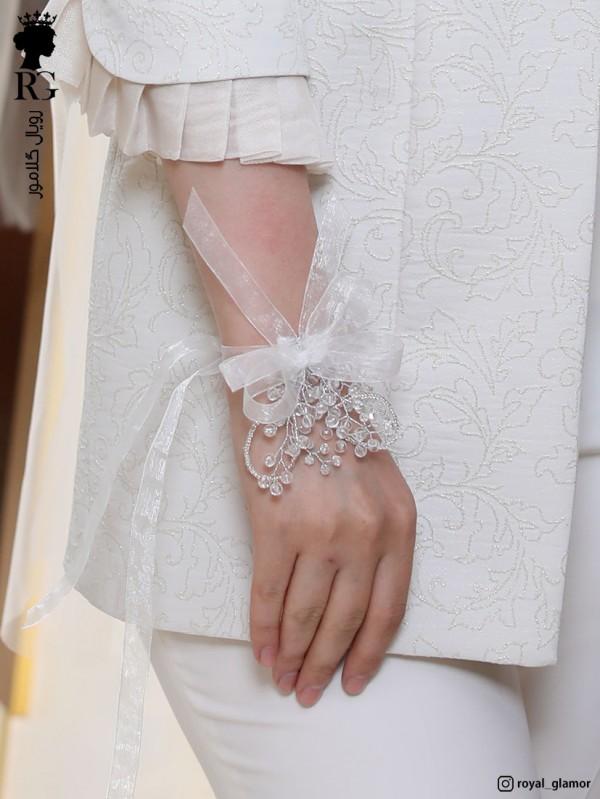 دستبند عروس کریستالی