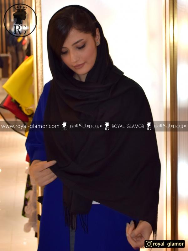 شال زنانه مشکی RG6827