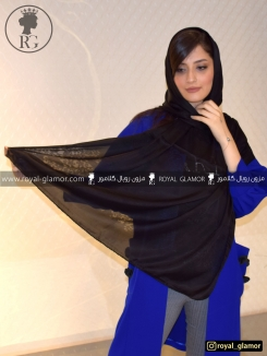 شال زنانه مشکی RG6830