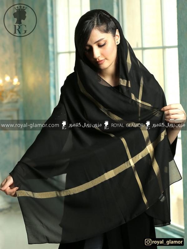 شال زنانه مشکی RG6831