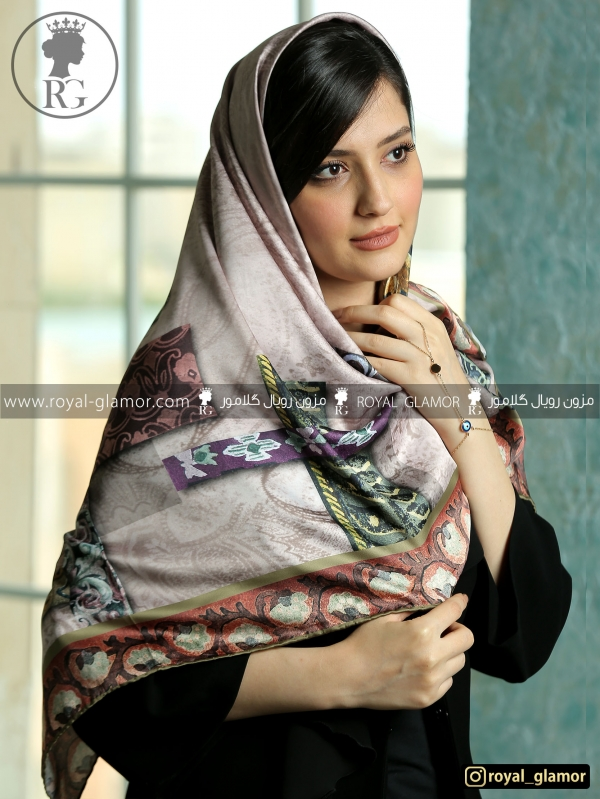روسری زنانه ابریشم RG6834