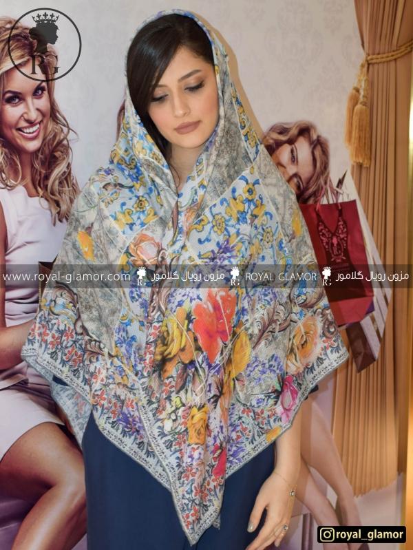 روسری زنانه نخی طرحدار RG6844