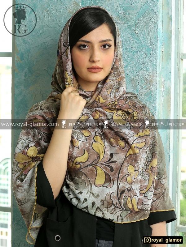 روسری زنانه نخی طرحدار RG6851