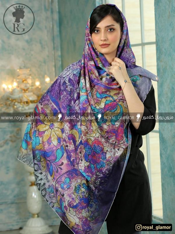روسری زنانه نخی طرحدار RG6852