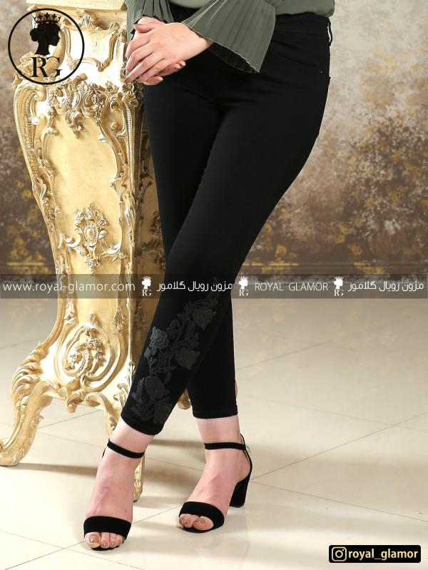 شلوار جین زنانه مشکی 5809