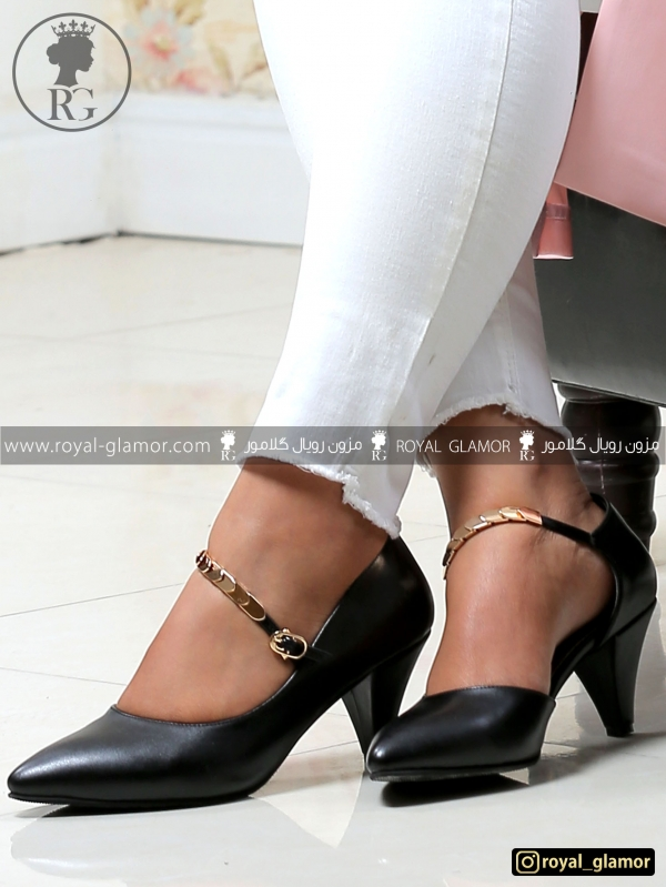 کفش زنانه پاشنه بلند مشکی RG9805