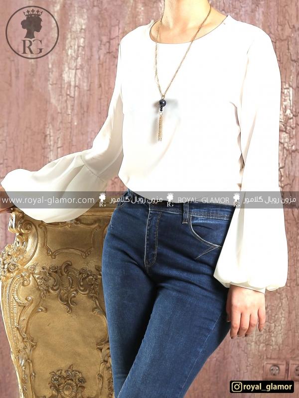 شومیز زنانه سفید RG4806
