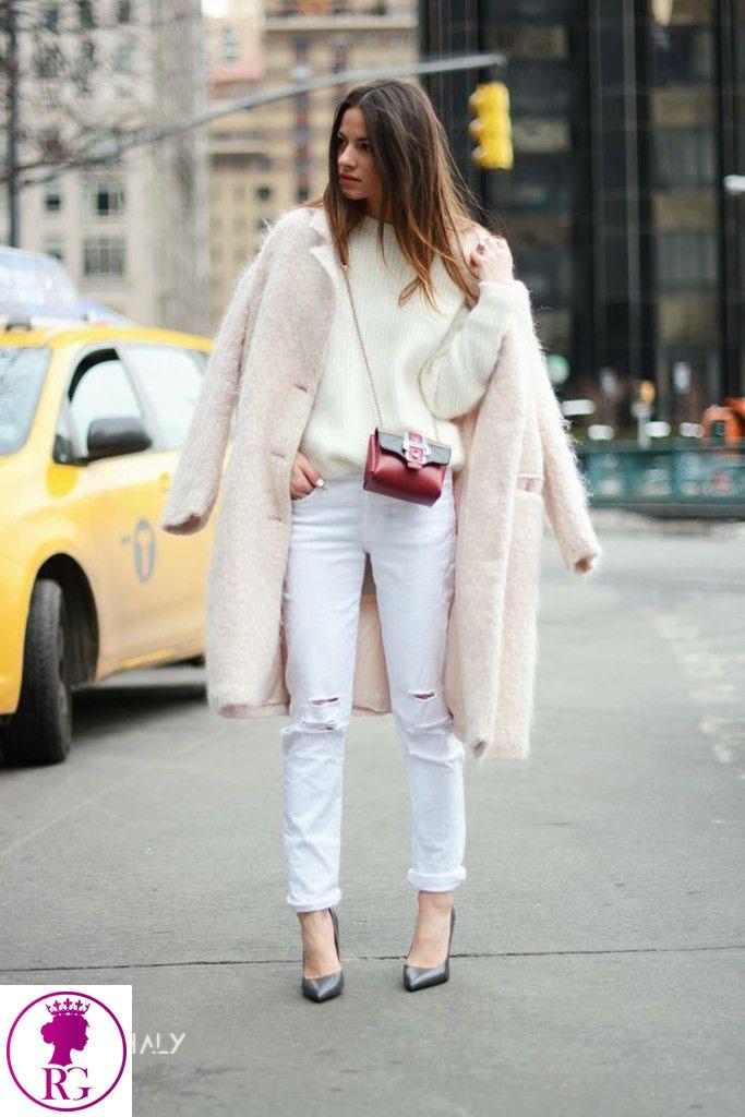 ست کردن شلوار جین سفیدزنانه و دخترانه
