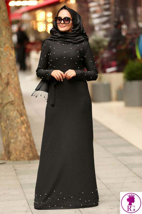 مدل مانتو مشکی زنانه شیک