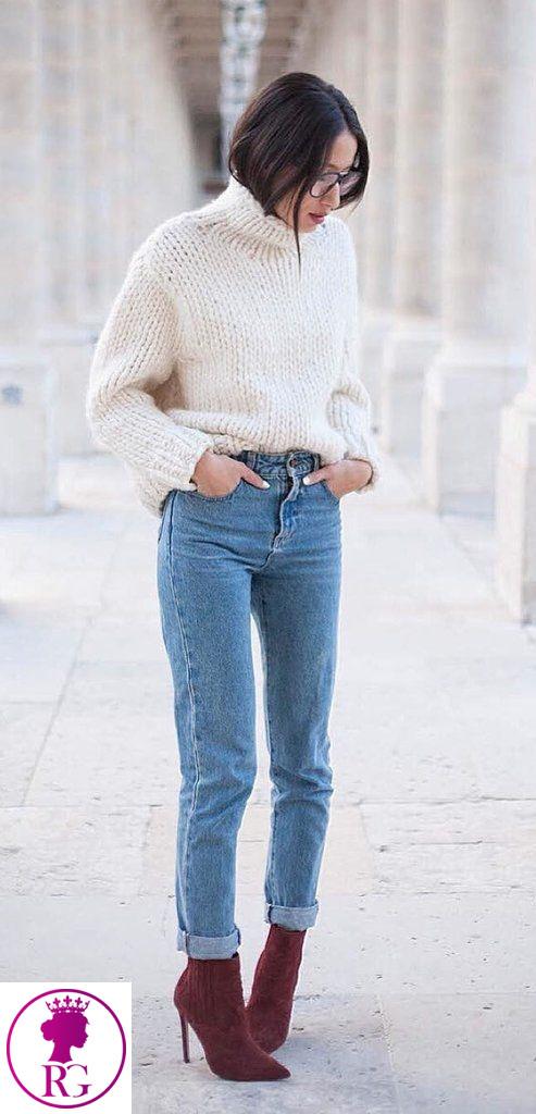 ست پلیور زنانه با شلوار جین