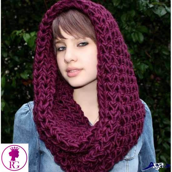 مدل شال و روسری بافت تو گردني زنانه