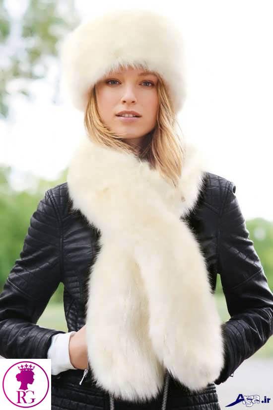 مدل شال و روسری زنانه شیک از خز روباه