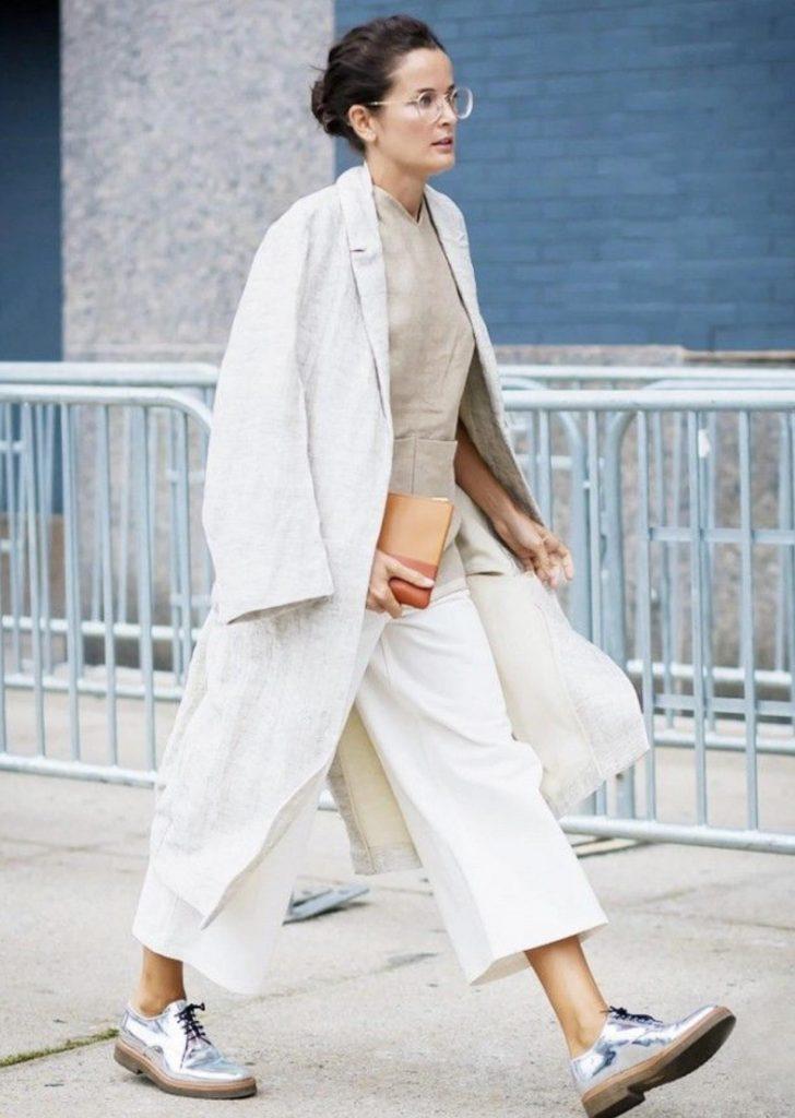 استایلهای جدید با مانتو اورسایز سفید
